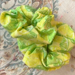 Lime Scrunchies, 2 pack large